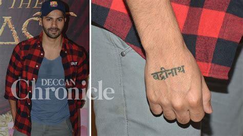 varun dhawan tattoo varun dhawan gets inked for badrinath ki dulhania