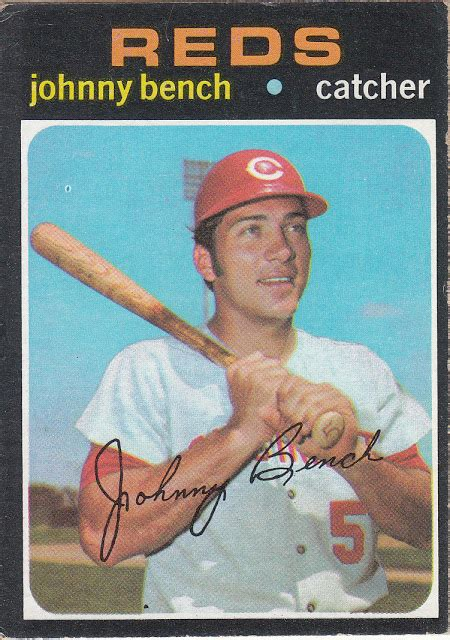 what does johnny bench called mean can t have too many cards card of the day here s johnny