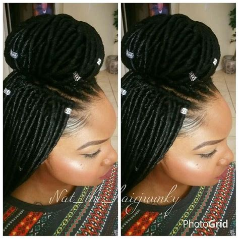 Crochet Hair Braids Braiding Hair 2x Faux Locs Braid 18 By Amy | 2x mambo faux locs 18inch crochet text 954 471 7585 to