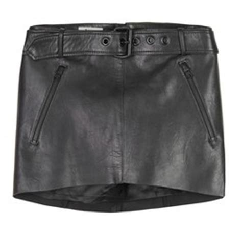 mohrin leather micro mini skirt leather4sure black