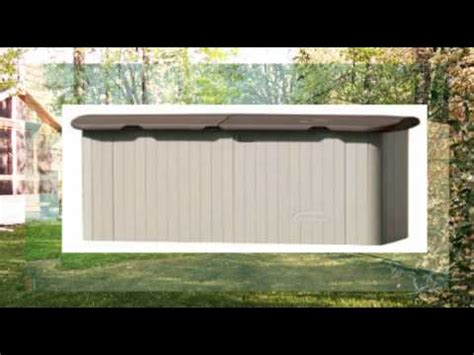 suncast horizontal storage shed review youtube