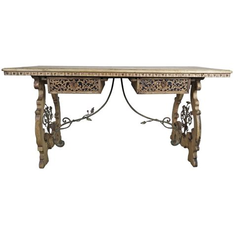 wrought iron desk 19th century walnut and wrought iron desk for sale