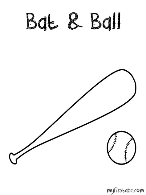 free baseball baseball bat coloring pages