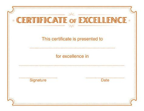 certificates of excellence templates 5 free printable certificates of excellence templates