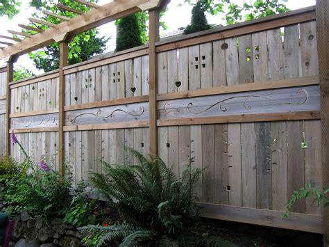 cool fence ideas for backyard sun f fence