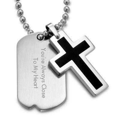 cross tags engraved tags pendants at things remembered