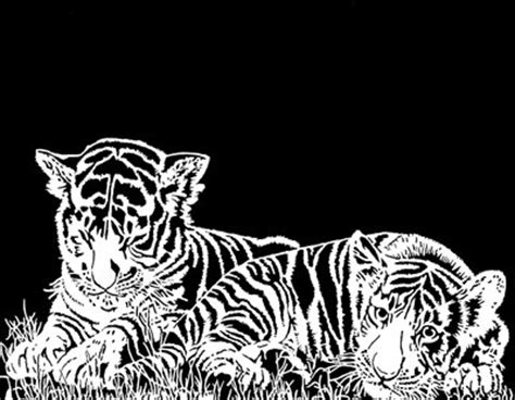 Black And White Home Decor tiger cubs 14x11 mike s scroll saw patterns