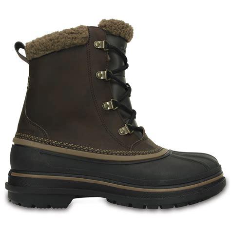 mens crocs boots crocs mens allcast ii boot espresso black waterproof