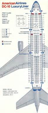 American Airlines Floor Plan Vintage Airline Seat Map American Airlines Dc 10 10