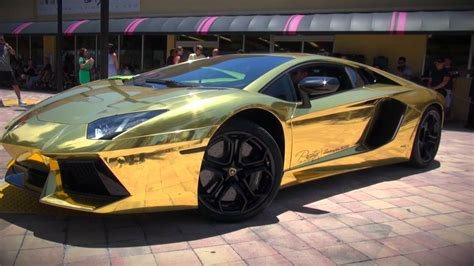 Worlds First Gold Plated Lamborghini Aventador LP700 4