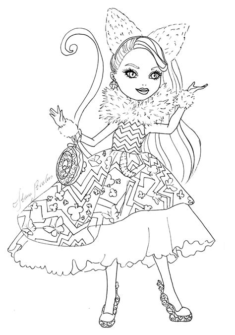 coloring page ever after high free kitty cheshire ever after high coloring pages