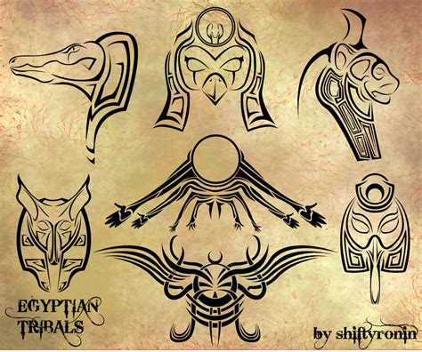 tribal tattoo god egyptian tribals by shiftyronin on deviantart