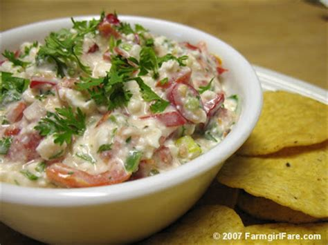 Farmgirl Fare Recipe Low Fat Full Flavor Fiesta Cottage Cottage Cheese Vegetable Dip Recipe