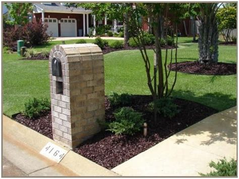 landscape around mailbox lawn ideas landscaping mailbox landscaping and yards