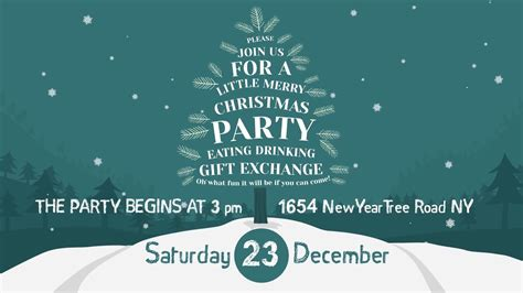 template after effects party christmas party invitation after effects template from