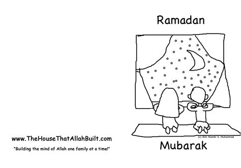 free coloring pages free printable eid greeting card for free coloring pages of ramadan and eid