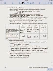 chemistry assignments mole ratio worksheet