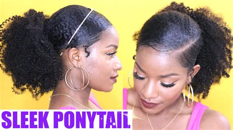 different ways to slick back natural hair using styling gel with pictures how to sleek low ponytail on natural hair youtube