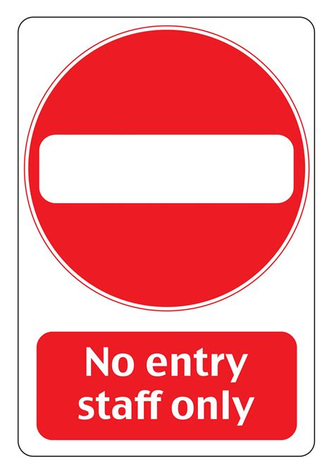 entry signs poster template