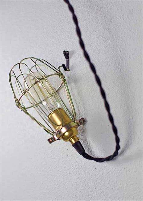 barn light with cage minimalist polished brass cage pendant barn light electric