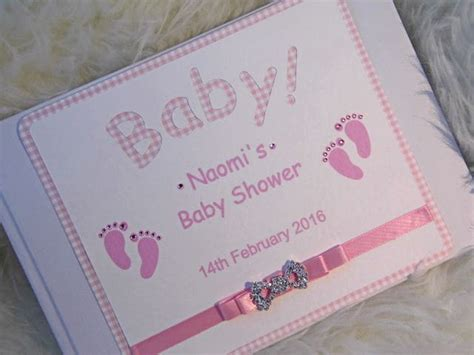 Personalised Baby Shower Book by Babyshower Guest Book Personalised