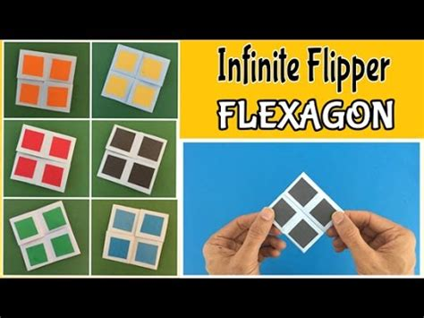 How To Make A Flexagon Out Of Paper - infinite flipper flexagon diy tutorial by paper folds