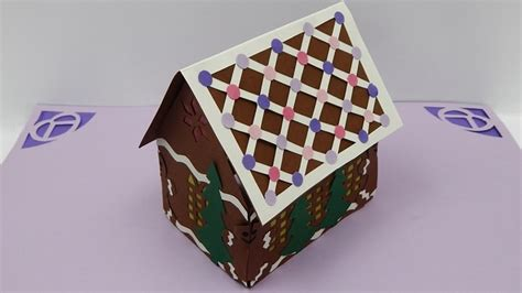 make a 3d house how to make a 3d christmas gingerbread house pop up card