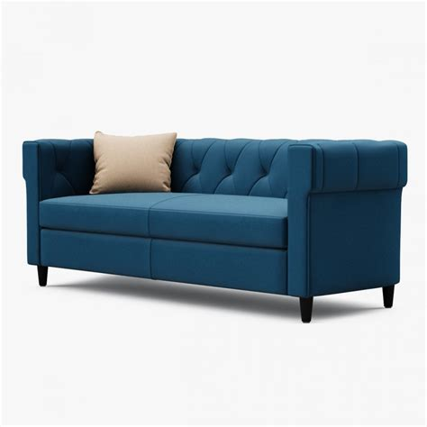non upholstered sofa chester tufted upholstered sofa 3d model cgstudio