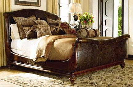 thomasville ernest hemingway bedroom thomasville hemingway collection leather sleigh bed