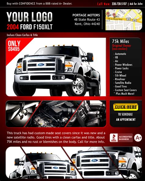 Pre Made Flyer Car Ad By Ledpoison On Deviantart Car Advertisement Template