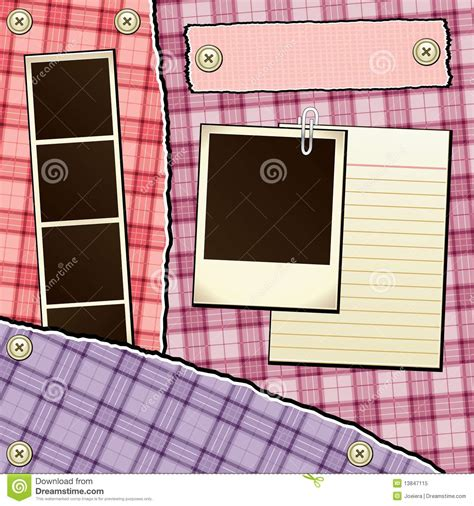 Scrapbook Template Stock Vector Illustration Of Pink 13847115 Microsoft Powerpoint Templates Scrapbook