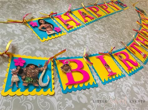Happy  Ee  Birthday Ee   Banner Moana  Ee  Birthday Ee   Party De R