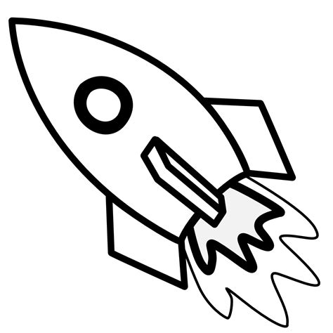 Space Rocket Clip Art Outline Page 4 Pics About Space Rocket Coloring Page