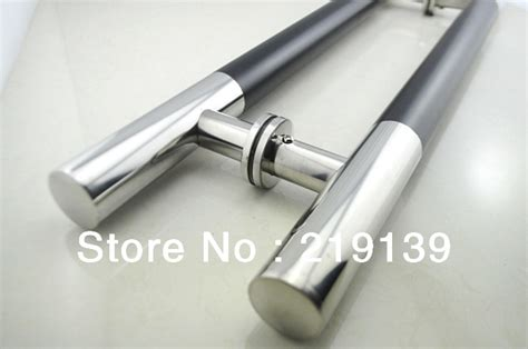 1pair storefront stainless steel glass door handle pull