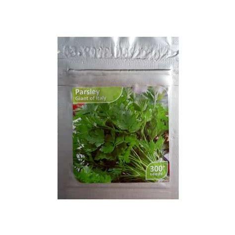 jual benih parsley of italy 300 biji kemasan foil bibit
