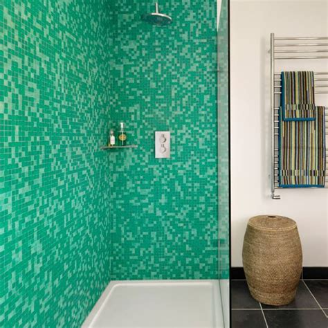Mosaic bathroom shower mosaic tile bathroom idea modern image