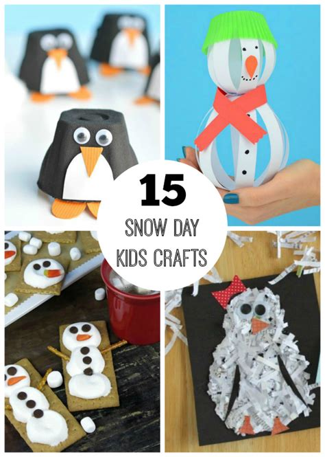 15 Snow Day Crafts For Make And Takes