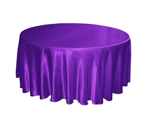 Purple Table L Regency Royal Purple Satin 132 Quot Tablecloths Table Cloth Wedding Banquet Ebay