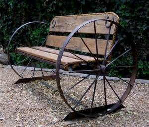 Homemade Outdoor Chandelier Wagon Wheel Garden Bench Patio Outdoor Gardening Pinterest