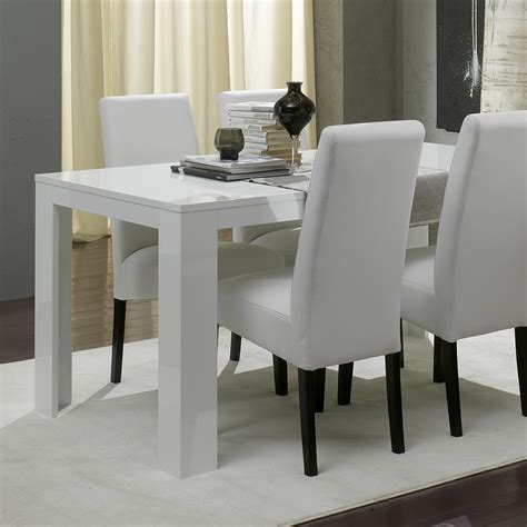 table blanche salle a manger table a manger en verre