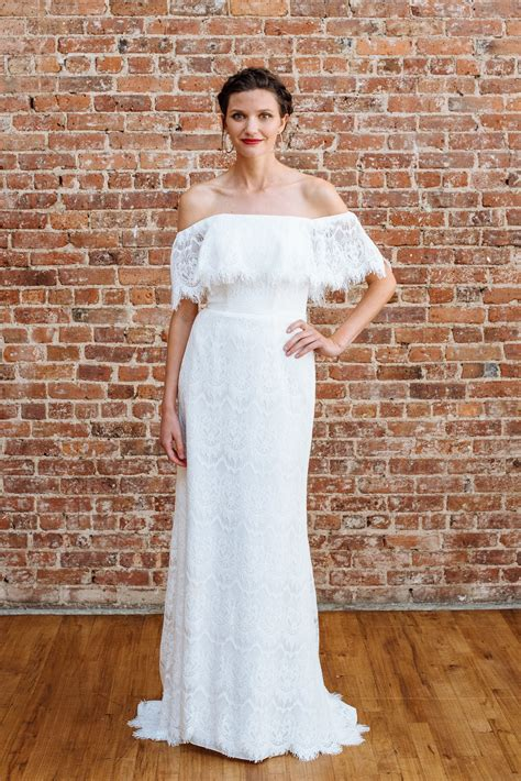david s bridal fall 2018 wedding dress collection martha galina by david s bridal off the shoulder lace sheath