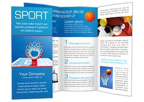 basketball brochure template design id 0000000783