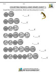 counting money worksheets 1st grade