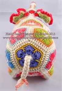 Crochet African Flower - heidi bears nellie the elephant african flower crochet