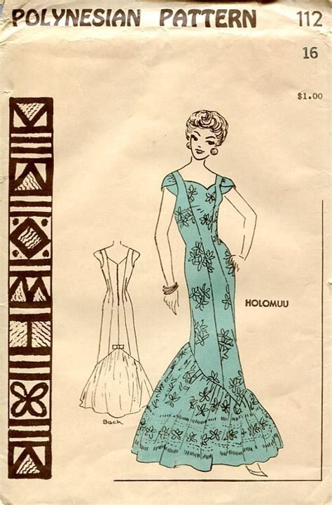 vintage hawaiian pattern polynesian pattern 112 hawaiian sewing patterns