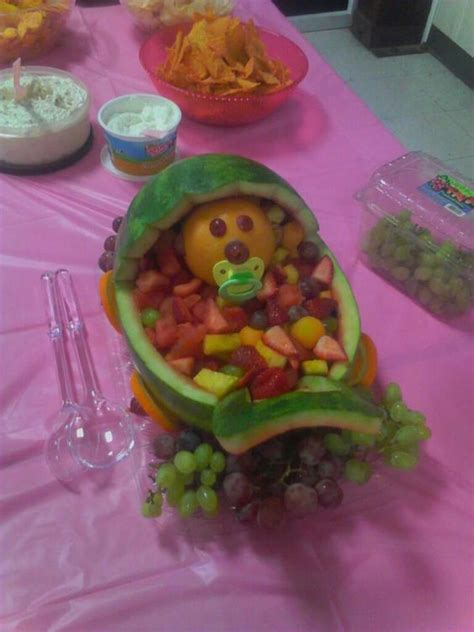 Watermelon Fruit Bowl Baby Shower by Watermelon Fruit Bowl For A Baby Shower Just Desserts