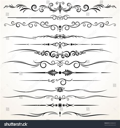 different design styles collection of ornamental rule lines in different design