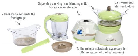 Blender Babymoov bongbongidea babymoov nutribaby 5 in 1 baby food steamer blender