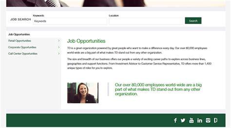 td bank official website td bank application apply