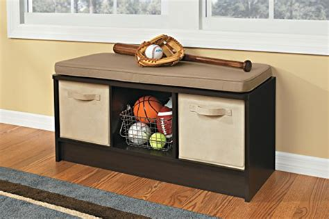closetmaid 3 cube bench espresso closetmaid 1570 cubeicals 3 cube storage bench espresso